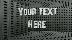 Text in a Metal Box.zip Stock After Effects