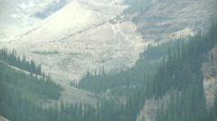 Lake Louise mountain ice Glacier Exploration Stock Footage
