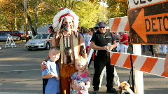 Indian at Yellow Springs Street Fair Stock Footage
