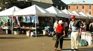 Local Vendors at Yellow Springs Street Fair Stock Footage