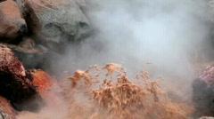 Red Spouter Mud Pot BigWeb Stock Footage