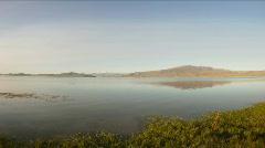 Time Lapse of sunset on Mountain Lake Dayan Nuur Stock Footage
