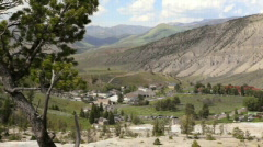 Town of Mammoth Hot Springs BigWeb Stock Footage
