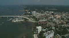 Aerial Clearwater Beach Bridge Stock Footage