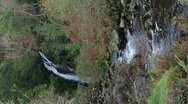 Stock Video Footage of Buck Loop Waterfall, Galloway Forest Park, Scotland