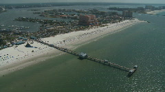 Aerial Pier 60 Clearwater Beach - stock footage