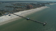 Stock Video Footage of Aerial Pier 60 Clearwater Beach