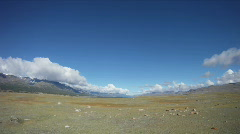 Timelapse Mountain lake Khoton Nuur in Mongolian Altai Stock Footage
