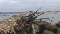 Duck Hunting Hunters Stock Footage
