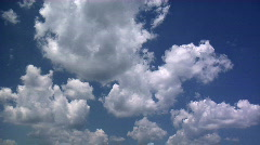 Summer Timelapse 07 Scudding Clouds - stock footage