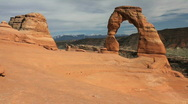 Stock Video Footage of Delicate Arch Wide
