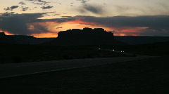 Desert Highway Sunset - stock footage