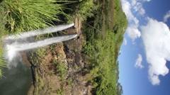 Wailua falls, vertical Stock Footage