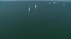 Aerial Sail Boat Regatta 5 - stock footage
