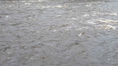 Close Up Of Fast Moving River Water Stock Footage