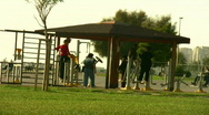 Stock Video Footage of People exercising at a park