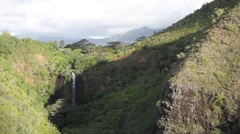Waterfall, Opaekaa Stock Footage
