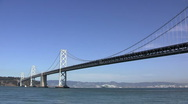 San Francisco Bay Bridge Stock Footage