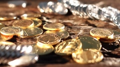 Gold and silver - stock footage