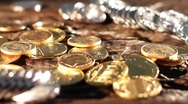 Stock Video Footage of Gold and silver