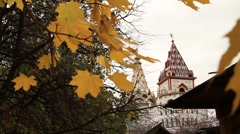 Beautiful Fall foliage and Russian architecture - HD 1920X1080 Stock Footage