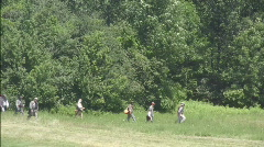 Casual March of Confederate Solders Stock Footage