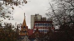 Russian architecture in a famous market - HD 1920X1080 Stock Footage