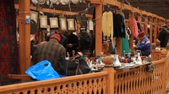 Sellers and buyers in Izmailovo flea market in Moscow - HD 1920X1080 Stock Footage