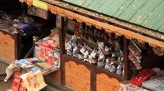Russian souvenir shop in Izmailovo flea market in Moscow - HD 1920X1080 Stock Footage