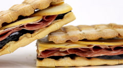 Italian Panini Sandwich Stock Footage