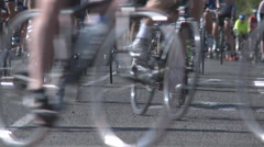 Bikers legs in competition Stock Footage