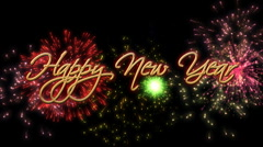 happy new year - stock footage
