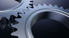 Gears machine - seamless loopable cg animation 1 - stock footage