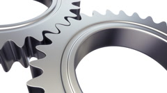 Gears machine - loopable alpha masked cg animation 3 Stock Footage