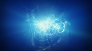 Blue energy background Stock Footage