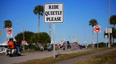 Ride Quietly Please, Daytona Stock Footage