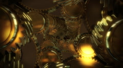 Throw Gears , repeatly Stock Footage