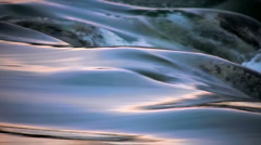 flowing Water and waave time laps looping color SLOW MOTION - stock footage