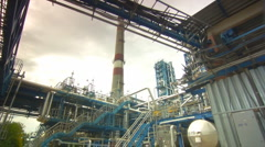 Stock Video Footage of Oil Plant Refinery