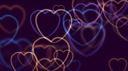 Stock Video Footage of Abstract hearts defocused