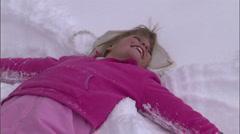 Snow Angel Fight 29 Stock Footage