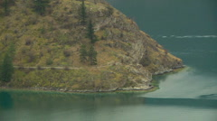 Rattlesnake Point on Kalamalka Lake zoom out reveals Okanagan Countryside Stock Footage