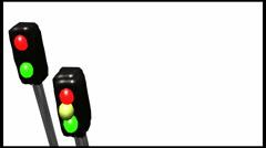 Traffic Lights 3D Animation Loop - stock footage