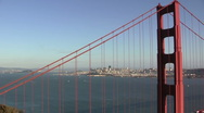 Golden Gate Bridge and San Francisco Stock Footage