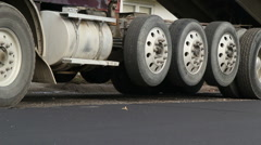 Large truck after delivery Stock Footage