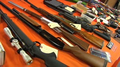 GunAuction02 - stock footage
