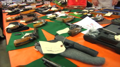 GunAuction03 - stock footage