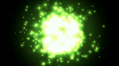Universe explosion and fragment,green circle and Particles.Design,pattern,symbol Stock Footage