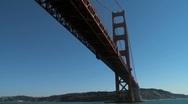 15Sec Under GG Bridge SF01 Stock Footage