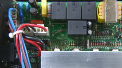 Electronic circuit board dolly to the right Stock Footage
